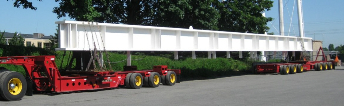 Building Girder on Trailer